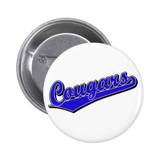 Cougars in Blue Pinback Button