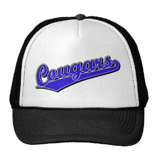 Cougars in Blue Trucker Hat