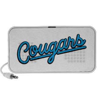 Cougars in cyan Mp3 Speakers
