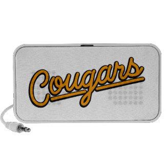 Cougars in orange Notebook Speakers