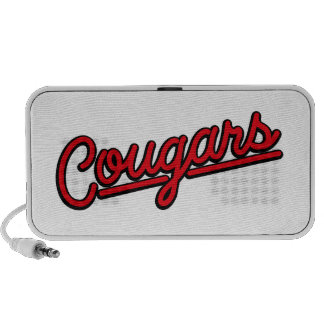 Cougars in red Travel Speaker