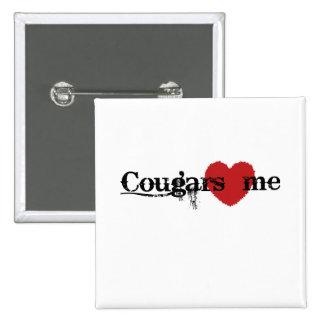 Cougars Love Me 2 Inch Square Button