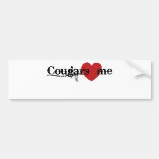 Cougars Love Me Car Bumper Sticker