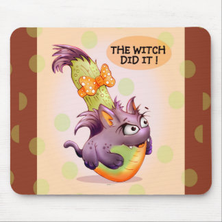 COUGETTE HALLOWEEN ALIEN CARTOON MOUSE PAD