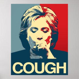 COUGH - Anti-Hillary Propaganda Poster