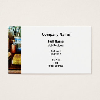 Cough Remedies and Tooth Powder Business Card