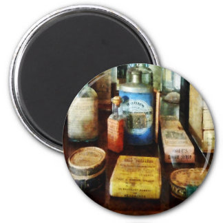 Cough Remedies and Tooth Powder Refrigerator Magnets