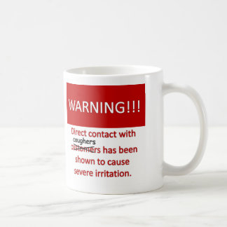 Cough Warning Coffee Mug