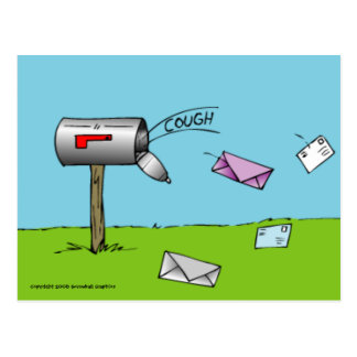 Coughing Mailbox Postcard