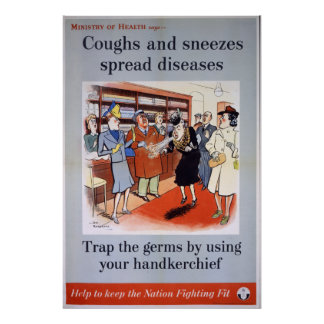 Coughs and Sneezes - shop Poster