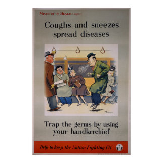 Coughs and Sneezes spread diseases - Tram Poster