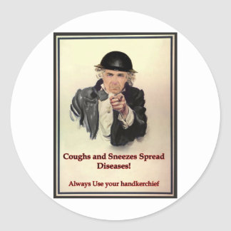 Coughs & Sneezes Classic Round Sticker