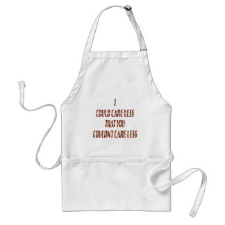 Could Care Less Adult Apron