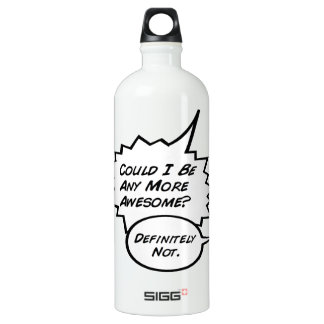 Could I Be Any More Awesome? Aluminum Water Bottle