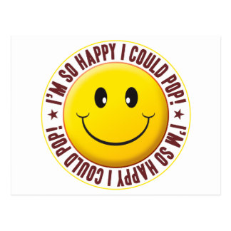 Could Pop Smiley Postcard