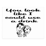 could use drink post card