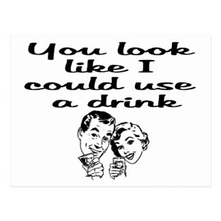could use drink postcard