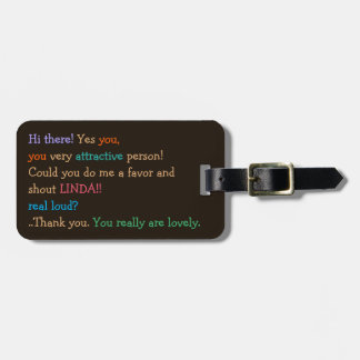 Could You Shout Custom Name Funny Luggage Bag Tag