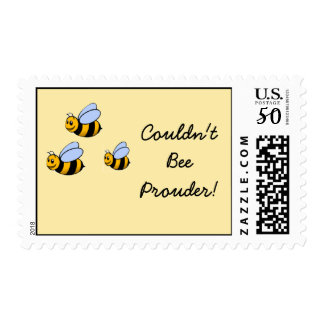Couldn't Bee Prouder BUmble Bee Postage Stamps