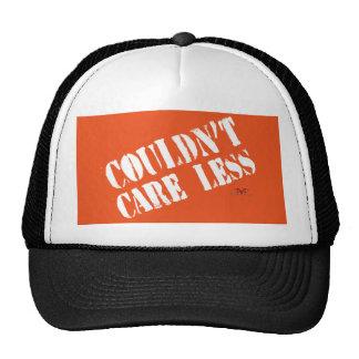 Couldn't Care Less-dark print Trucker Hat
