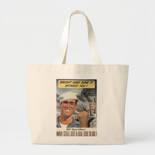 Couldn't Have Done it Without You Jumbo Tote Bag