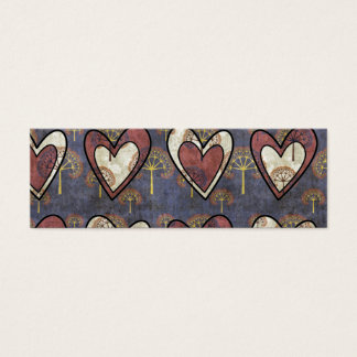 coulred pattern hearts mini business card