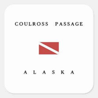 Coulross Passage Alaska Scuba Dive Flag Square Sticker