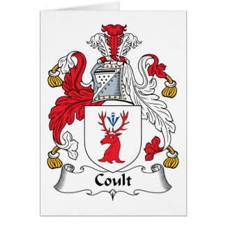 Coult Family Crest Card