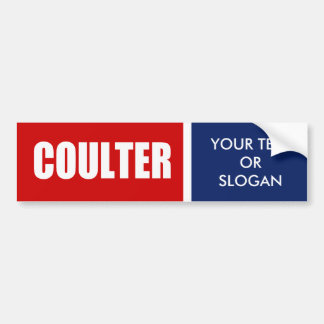 COULTER 2012 BUMPER STICKERS