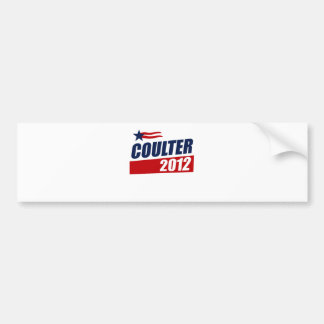 COULTER 2012 BUMPER STICKER