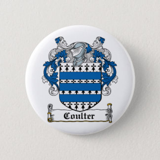 Coulter Family Crest Pinback Button