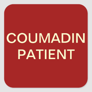 Coumadin Patient Chart Label