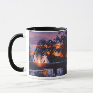"""""""Council Fires"""" Indian Themed Watercolor Mug"""