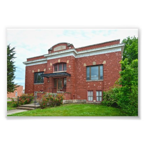 Council Grove Carnegie Library, Kansas Photo Print