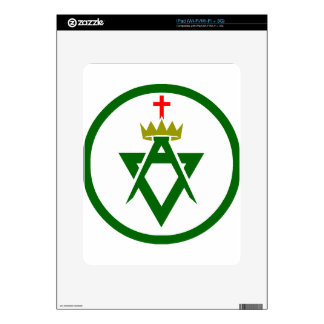 Council of Allied Masonic Degrees plain Skin Decal For iPad