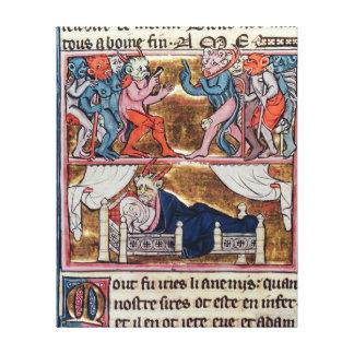 Council of Demons, from 'l'Histoire de Merlin' Canvas Print