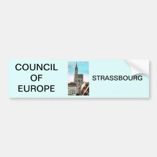 Council of Europe, Strassbourg Bumper Sticker