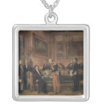 Council of Ministers at the Tuileries Signing Square Pendant Necklace