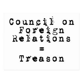 Council on Foreign Relations = traición Postal