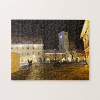 Council Tower at night Sibiu Jigsaw Puzzles