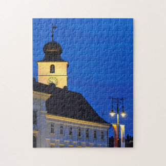 Council Tower at night Sibiu Jigsaw Puzzle