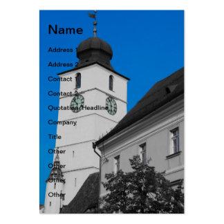 Council tower, Sibiu Business Card Templates