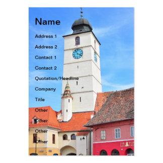 Council tower, Sibiu Business Card Template
