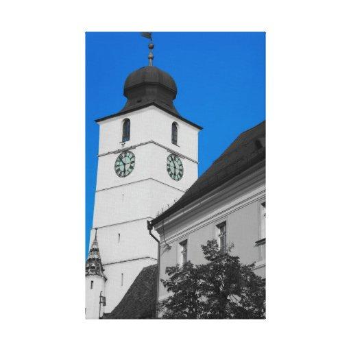 Council tower, Sibiu Canvas Print