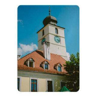 Council tower, Sibiu 5x7 Paper Invitation Card
