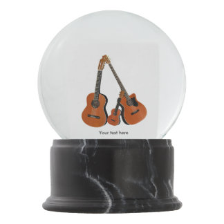 Counrty Folk Music Acoustic Instruments Snow Globe