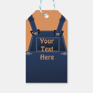 Counrty Folk Overalls Custom Gift Tag