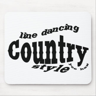 Counrty line dancing mouse pad