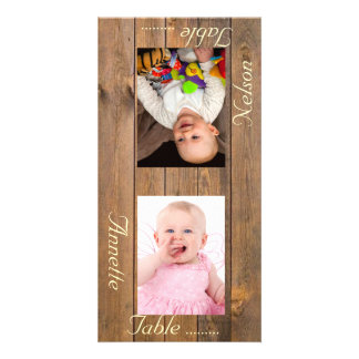 Counry Style Bride & Groom Photo Table Card