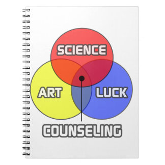 Counseling .. Science Art Luck Spiral Notebook